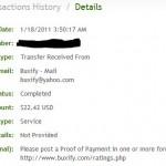 Důkaz platby BUXIFY 2