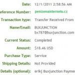 Důkaz platby BUXJUNCTION