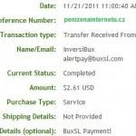 Důkaz platby BUXSL