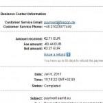 Důkaz platby EARNIT