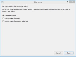 Electrum - screen 1