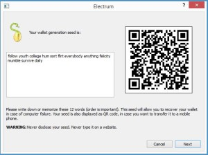 Electrum - screen 2