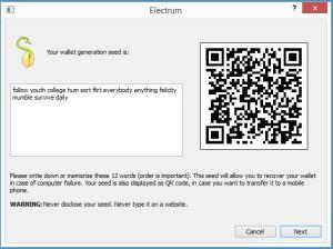 Electrum - screen 2