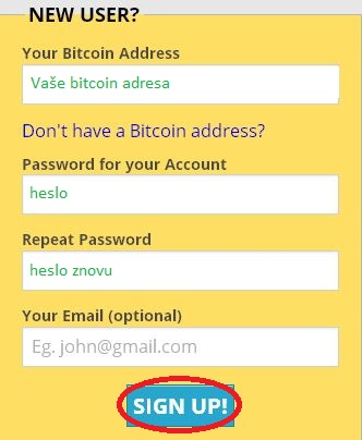 FREEBITCOIN - registrace