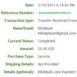 Důkaz platby KLICKBUCK