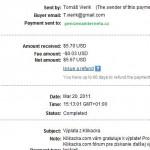 Důkaz platby ČESKO-SLOVENSKÁ KLIKAČKA