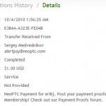Důkaz platby NEOPTC