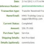 Důkaz platby STIFORP